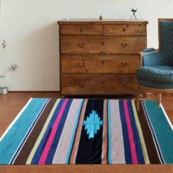 Avioni Handloom Cotton and Chenille Multicolor Durries- 122 cm x 183 cm (4 x 6 feet)