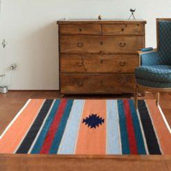 Avioni Handloom Cotton and Chenille Multicolor Durries – 122 cm x 183 cm (4 x 6 feet)