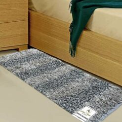 Buy Bed Side Runner /Shaggy Rugs(56 X 140 cm) Silver And Gray By Avioni