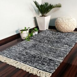 Value Deal-Avioni Carpet For Living Room Lux Collection- Modern Black And White-92x152cm (3×5 Feet)