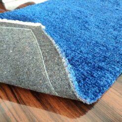 Avioni Bedside/Hallway/Pooja Carpets In Faux Silk Blue-(22X55 Inch)