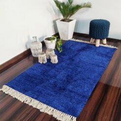 Value Deal-Avioni Carpets for Living Room – Neo Modern Collection Blue Solid Carpet/Rug – 92x 152 cm (3×5 Feet)