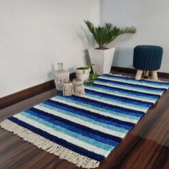 Avioni Carpets for Living Room – Neo Modern Collection Blue Carpet/Rug – 92x 152 cm (3×5 Feet)