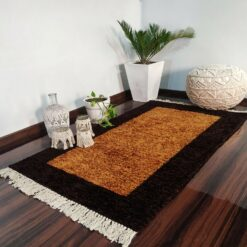Avioni Carpets for Living Room/Pooja Room – Neo Modern Collection Brown And Coffee Carpet/Rug – 92x 152 cm (3×5 Feet)