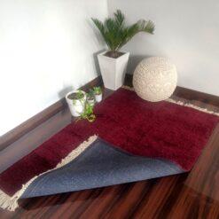 Value Deal-Avioni Carpet Lux Collection- Modern Plain Rug for Living Room/ Pooja Room-Mehroon-92×152 cm(3×5 Feet)