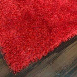 Super Saver Deal-Avioni Fur Carpets for Living Room – Red Colour-92x152cm (3×5 Feet)
