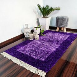Avioni Carpets for Living Room/Pooja Room – Neo Modern Collection Purple Tid-Die Carpet/Rug – 92x 152 cm (3×5 Feet) (Copy)