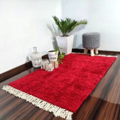 Avioni Carpets for Living Room/Pooja Room – Neo Modern Collection Red Carpet/Rug – 92x 152 cm (3×5 Feet)