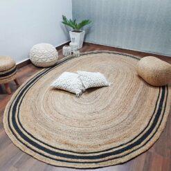 Natural Organic Jute Handmade Braided Rugs  Jute Large Area Rug Avioni- Premium Collection- 200x 300 cm