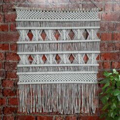 Avioni Hand Knotted Macrame Hanging  With Intricate Seven Stick Design  Boho Look – In Giftable Carton/ Best Festival/Wedding Gift-90×95 cms